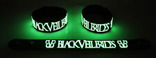 BLACK VEIL BRIDES  Glow in the Dark Rubber Bracelet Wristband Knives and Pens