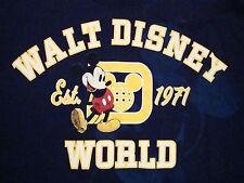 Walt Disney World Disneyland Mickey Mouse Souvenir Blue T Shirt M