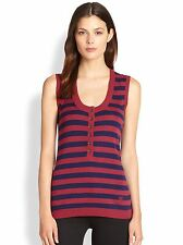 BNWT Beautiful Designer BURBERRY Ladies Striped Silk & Wool Knit Top M
