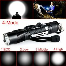 800LM Dimmable CREE XML-L2 LED 4Modes Pocket Zoom Flashlight Tactical Torch Lamp