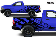 Vinyl Decal HEMI Wrap for 2009-14 Dodge Ram 1500/2500/3500 SHORTBOX Matte Black