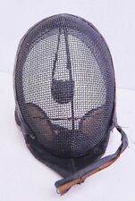 Antique Fencing Mask - Vintage - Metal Wire Mesh and Leather