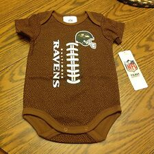 NFL Baltimore Ravens Baby Football Bodysuit 0-3 Months - NWT
