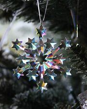 SWAROVSKI 2004 snowflake ornament POLAR COATING Rare, CUSTOMIZED for mega tree !