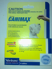 CANIMAX Heartworm / Allwormer  For Medium Dogs 4 tablets