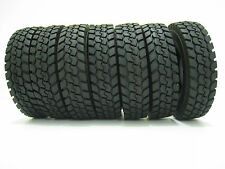 4 pcs Rubber Tires For 1:14 Tractor Truck Trailer Climbing Car Tamiya