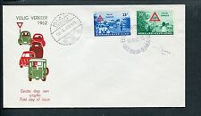 Ned.Nieuw Guinea FDC E8 - E 8, Veilig Verkeer 1962, blanco, ds Biak, bs paars