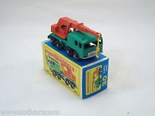 Matchbox Lesney # 30 Camion Grue - 8 wheel Crane  NM/boîte (#MBB)