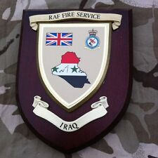 RAF Fire Service Iraq Military Wall Plaque UK Made for MOD