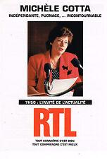 PUBLICITE ADVERTISING 015  1994  RTL radio  MICHELE COTTA