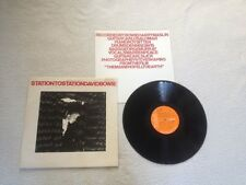 DAVID BOWIE STATION TO STATION 1ST PRESS 1976 UK VINYL LP RCA VICTOR 1E/2E
