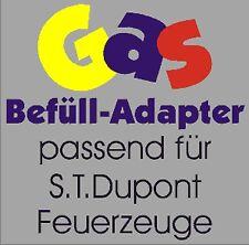 NEU GAS Befüll Adapter passend für S.T. Dupont Feuerzeug / ST Dupont Feuerzeuge