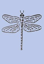 Dragonfly Stencil Vintage A4 Mylar Shabby Chic Wall Furniture Fabric 003