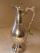 Silver Plate Jug Pictcher   ref 537
