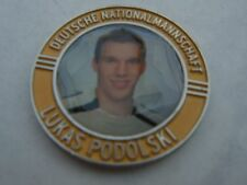 Pin Chip Münze LUKAS POLDI PODOLSKI goldfarben