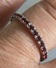 BAGUE ALLIANCE BIJOU VINTAGE COULEUR OR BLANC CRISTAL DIAMANT RUBIS T 50 /5340