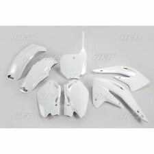 NEW UFO 6 PIECE PLASTIC KIT HONDA CR 85 03-10 WHITE