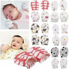 4PCS Newborn Boys Girls Infant Soft Cotton Handguard Anti Scratch Mittens Gloves