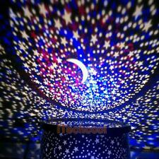 LED Cosmos Star Moon Master Sky Starry Night Projector Light Lamp Kid Favor Gift