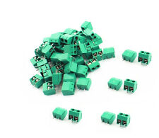 100PCS KF301-2P 2 Pin Plug-in Screw Terminal Block Connector 5.08mm Green