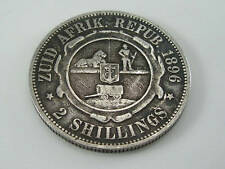 1896 SOUTH AFRICA SILVER KRUGAR FLORIN TWO SHILLING COIN