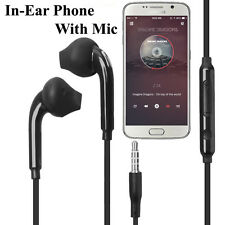 In-Ear Handsfree Headphone Earphones For Samsung Galaxy S7 Edge S6 S5 S4 - Black