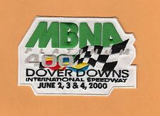 2000 DOVER DOWNS MBNA 400 JACKET PATCH nascar UNUSED UNSOLD STOCK