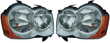 New Replacement Halogen Headlight Assy PAIR / FOR 2008-2010 JEEP GRAND CHEROKEE