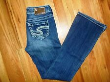 Womens Juniors Silver Brand Jeans Size 25 x 32 Suki Cut 25/32 BKE Buckle