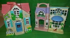 FISHER PRICE SWEET STREETS COUNTRY COTTAGE PET BEAUTY SALON HOUSE BUILDING LOT
