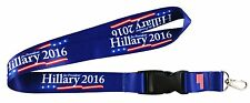 Hillary 2016 For President Clinton Lanyard Key Chain Quick Release Keychain
