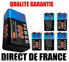 ★ Piles 9V 600mAh Ni-MH Rechargeable - DIRECT DE FRANCE NEUF ★