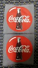 "Lot of 2 COCA COLA WOVEN LABEL  Sew-On 2.75"" X 2.75"