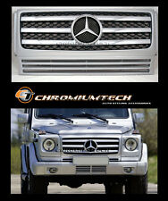 1989-2010 Mercedes W463 G Class SILVER CHROME Grill 2010 Style AMG G55 G63 G320