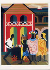 Street Vendors in Haiti 1978•Art by Lois Mailou Jones•4x6 POSTCARD