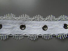 "White Lace Eyelet Trim/Tape 2cm 3/4""  Sewing/Costume/Crafts/Corsetry/Bridal"