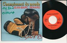 "SPORT BOXE THE WORLD CHAMPIONSHIP 45 TOURS 7"" BELGIUM JEAN-MARC RENARD"