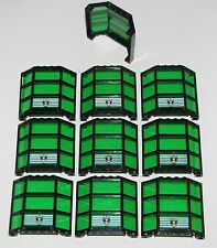 LEGO 10 Window Bay 3 x 8 x 6 with Trans-Green Glass Police Shield TOWN CITY PART