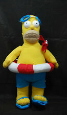 """Beach Time Homer Simpson Doll Bathing Suit Goggles The Simpsons Plush 16""""  Toy"""