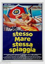 manifesto 2F originale STESSO MARE STESSA SPIAGGIA Cinzia De Carolis 1983