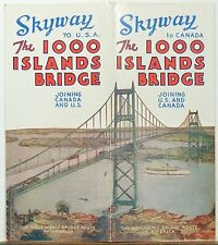 1930's The 1000 Islands Bridge Skyway Bridge from New York to Canada brochure b