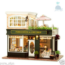 DIY Handcraft Miniature Project Wooden Dolls House My Little Coffee Shop n Paris
