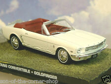 DIECAST 1/43 JAMES BOND 007 FORD MUSTANG CONVERTABLE WHITE GOLDFINGER ALPS CHASE