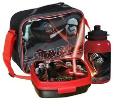 STAR WARS FORCE AWAKENS SCHOOL LUNCH BAG SANDWICH BOX & WATER DRINKS BOTTLE