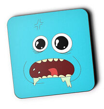 Rick And Morty Mr Meeseeks Wood Coaster For Mugs/Cups Geeky