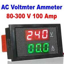 AC 80-300V 100A LED Digital Voltmeter Ammeter Current Ampere Volt Meter Panel