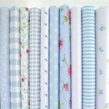 10 X 1 METRE BUNDLE  - DISTY IN BLUE SMALL FLORAL - POLY COTTON FABRIC