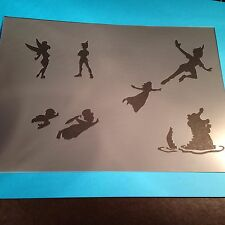 Peter Pan Stencil Template Flags Banner Paint Craft Fabric  Airbrush Bedroom