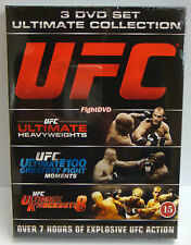 UFC Ultimate Collection 3 DVD Disc Set (Knockouts, Heavyweights, Greatest - NEW