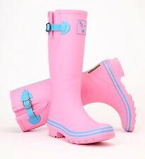 Ladies Plain Evercreatures Tall Wellies Rain Wellington Boots - UK 3 - 8